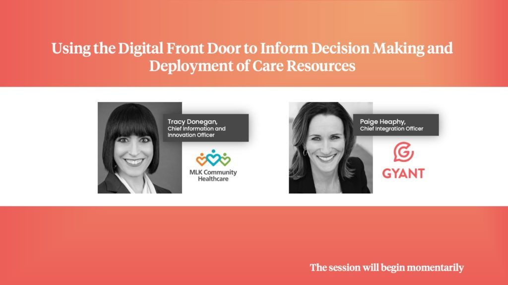 Using the Digital Front Door to Inform Decision Making and Deployment of Care Resources